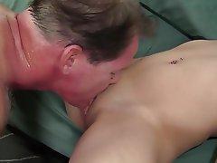 Blonde, Small Tits, Cunnilingus, Facial