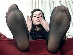 Stockings, Foot Fetish, Teen, Pantyhose