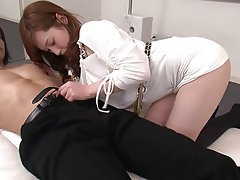Teen, Blowjob, Brunette, Latex
