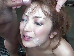 Asian, Bukkake, Creampie, Group Sex, Japanese