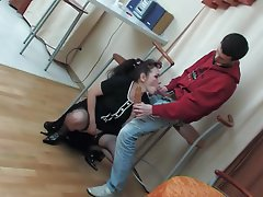 Old and Young, Creampie, Russian, Stockings