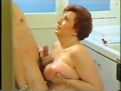 BBW, Blowjob, Granny, Old and Young, Vintage