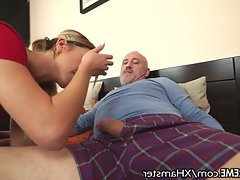 Blowjob, Cumshot, Teen, Old and Young, Small Tits