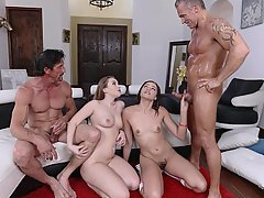 Teen, Fucking, Old Man, Cum