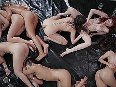 Lesbian, Lesbian, Orgy, Teen
