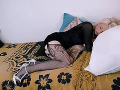 Blonde, Stockings, Cheating