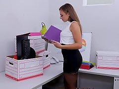 Office, Teen, Stockings, Lingerie