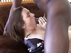 Blowjob, Brunette, Interracial, Mature, MILF