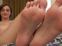 Brunette, Foot Fetish, Hairy, Small Tits