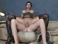 Facial, MILF, Old and Young, Stockings