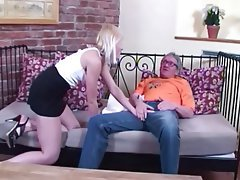 Cumshot, Cunnilingus, Blowjob, Blonde, Old and Young