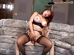 Gangbang, Hardcore, Old and Young, Redhead, Stockings