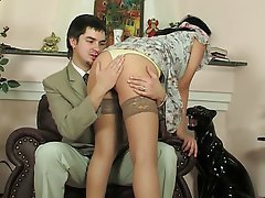 Anal, Brunette, Russian, Stockings
